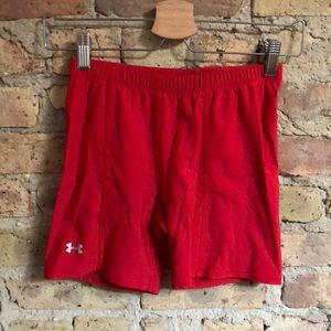Under Armour fire engine red spandex shorts